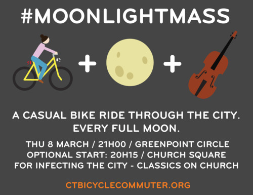 Full Moon bike ride in Cape Town