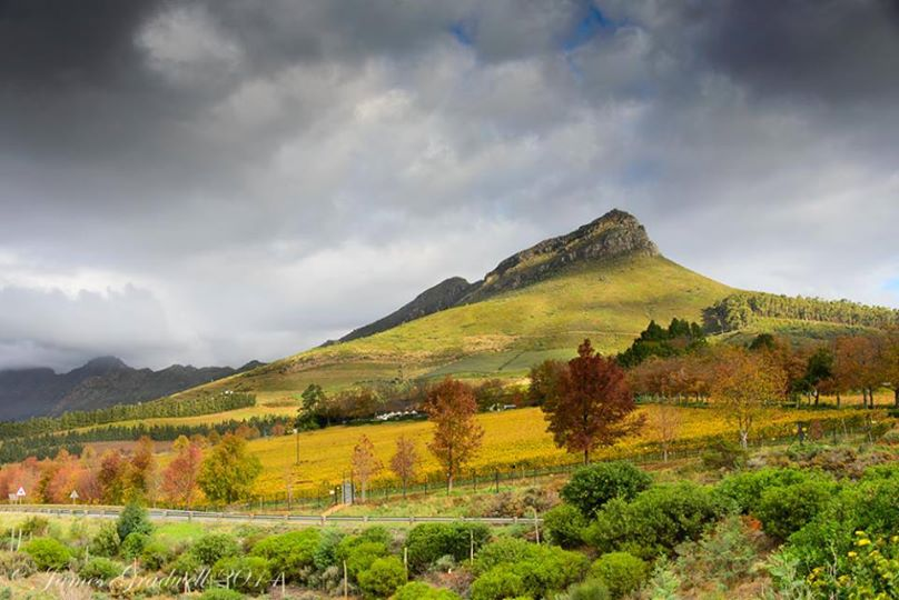 The Beautiful view of Stellenbosch, Helshoogte Pass!