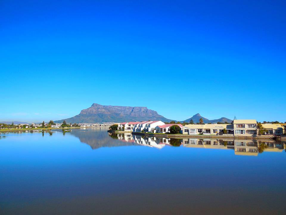 We love how still the water is and the reflection of the mountain in the water!