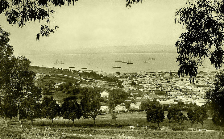 View from the slopes of Lions Head circa 1895