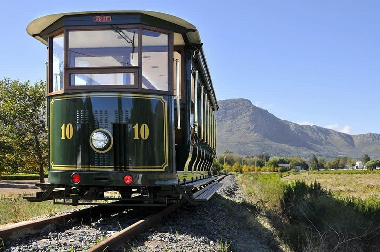 Hop on the Franschhoek Wine Tram