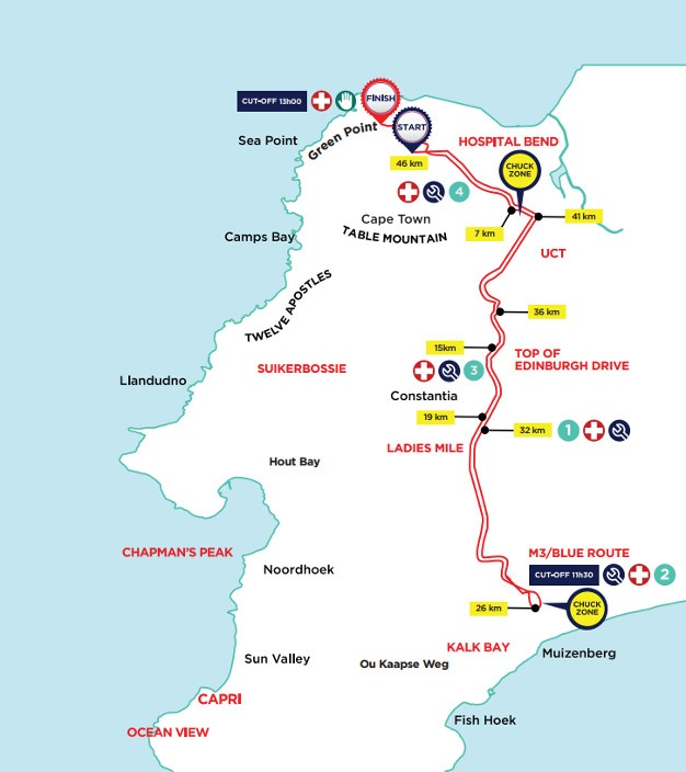 New Argus Cycle Tour Route