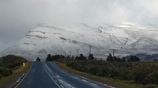 Snow in Cape Town 2015