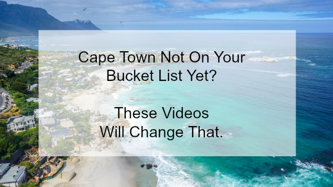 More Videos to Make You Want to Come to Cape Town