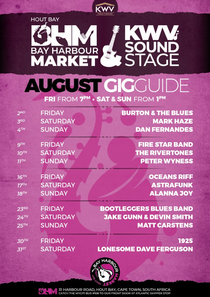 events in Cape Town this August