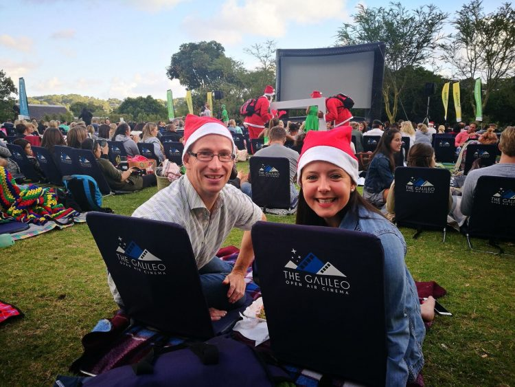 Christmas movie screening at the Galileo Open Air Cinema